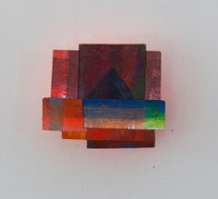 Detritus #27, multicolored abstract neon wall-mounted sculpture, 2017