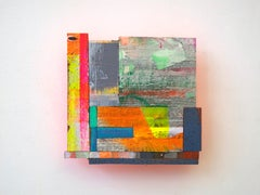 Joan Grubin, Detritus #8, neon abstract wall-sculpture, 2015