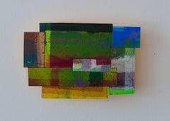 Joan Grubin, Detritus #35, Acrylic on pressed wood abstract wall sculpture, 2017