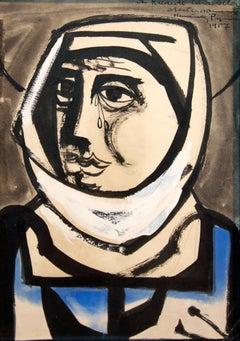 No title, Joan Hernandez Pijuan, 1957, Oil on paper