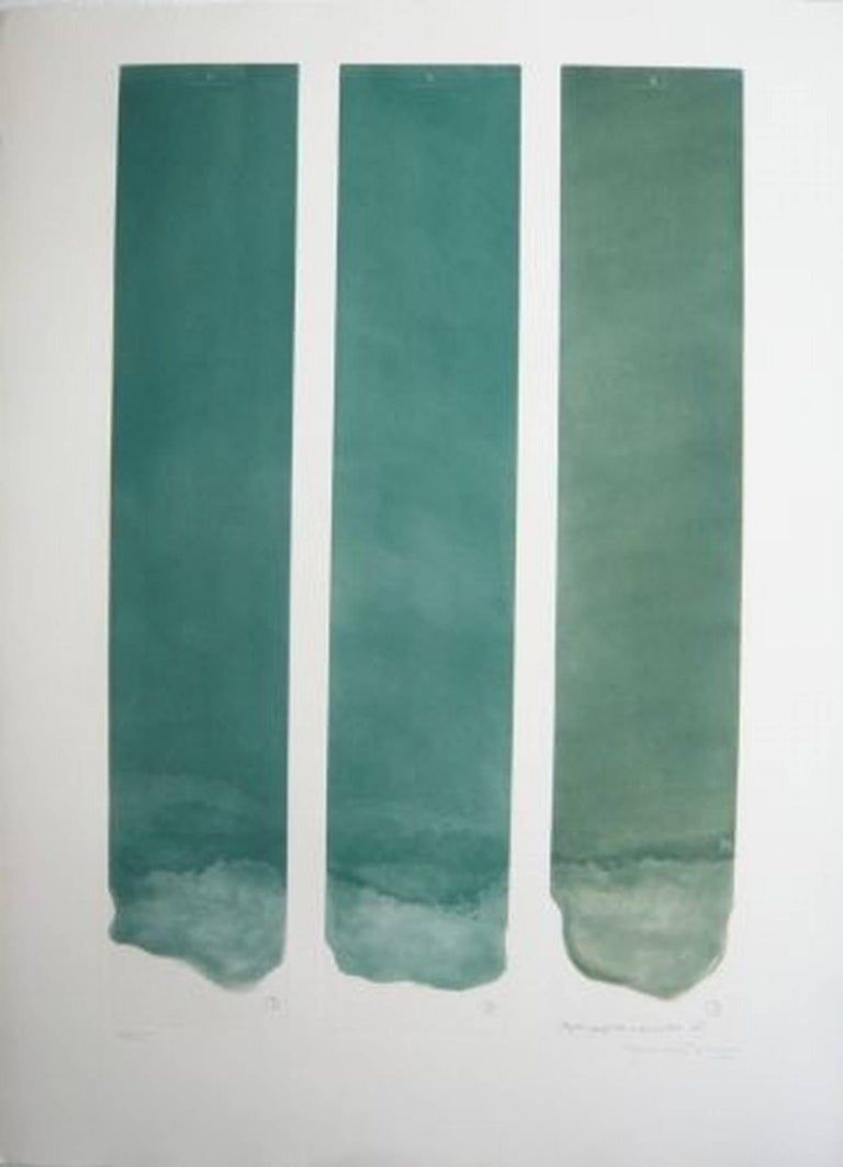 <i>Tres color per a un espai,</i> 1977, by Joan Hernández Pijuan, offered by Cerbera Gallery