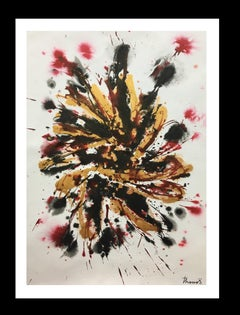 Colors- original abstract acrylic paper painting