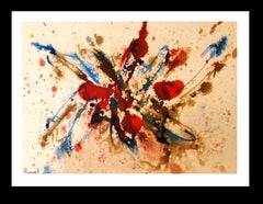 constellation original abstract acrylic paper painting