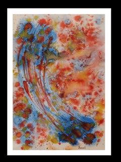 constellation original acrylic paper painting