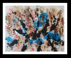 Constellations original abstract acrylic paper painting