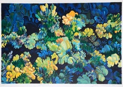 CORAL 3: Blue, Signed Lithograph, Colorful Abstract Coral Reef, Sea Life