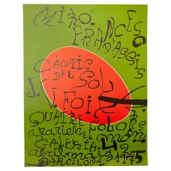 Joan Miró Abstract Expresionism Exhibition Poster, 1975