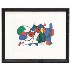 Joan Miro Color Lithograph, Edition of 80, Signed Artists Proof