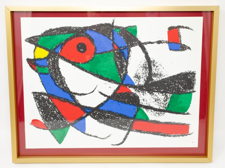 Expressionist Joan Miró Color Lithograph from