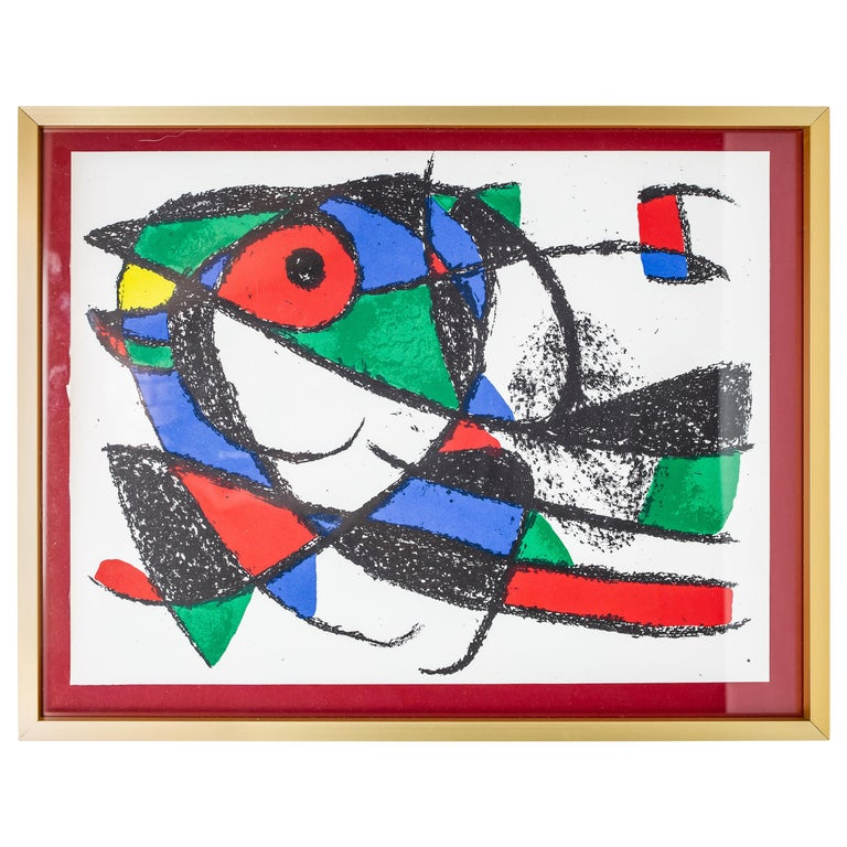 """Joan Miró Color Lithograph from """"Lithographe II"""", 1975 For Sale"""