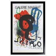 Joan Miro Gallerie Maeght Modern Poster Framed