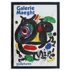 Joan Miro Gallerie Maeght Sculpture Modern Poster
