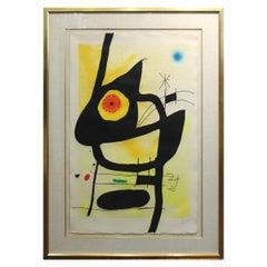 Joan Miro 'La Femme Des Sables' Modern Signed Print