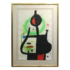 Joan Miro 'La Sorciere' Modern Signed Print