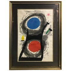Joan Miro 'L'Adorateur Du Soleil (Sun Worshipper)' Signed Etching Aquatint, 1969