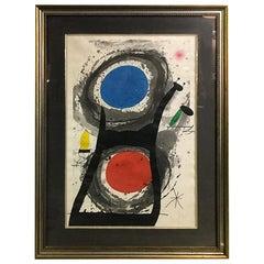 Joan Miró 'L'Adorateur Du Soleil 'Sun Worshipper' Signed Etching Aquatint, 1969