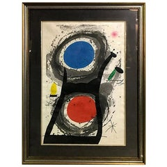 Joan Miró 'L'Adorateur Du Soleil 'Sun Worshipper' Signed Etching Aquatint, 1969