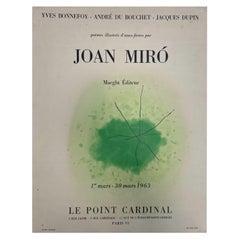 Joan Miro, Le point Cardinal, 1963, Exhibition Poster