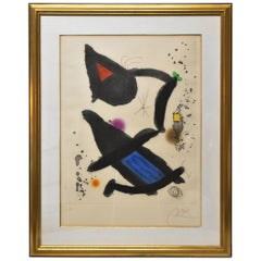 "Joan Miro ""Le Roi David"" Etching Aquatint HC"