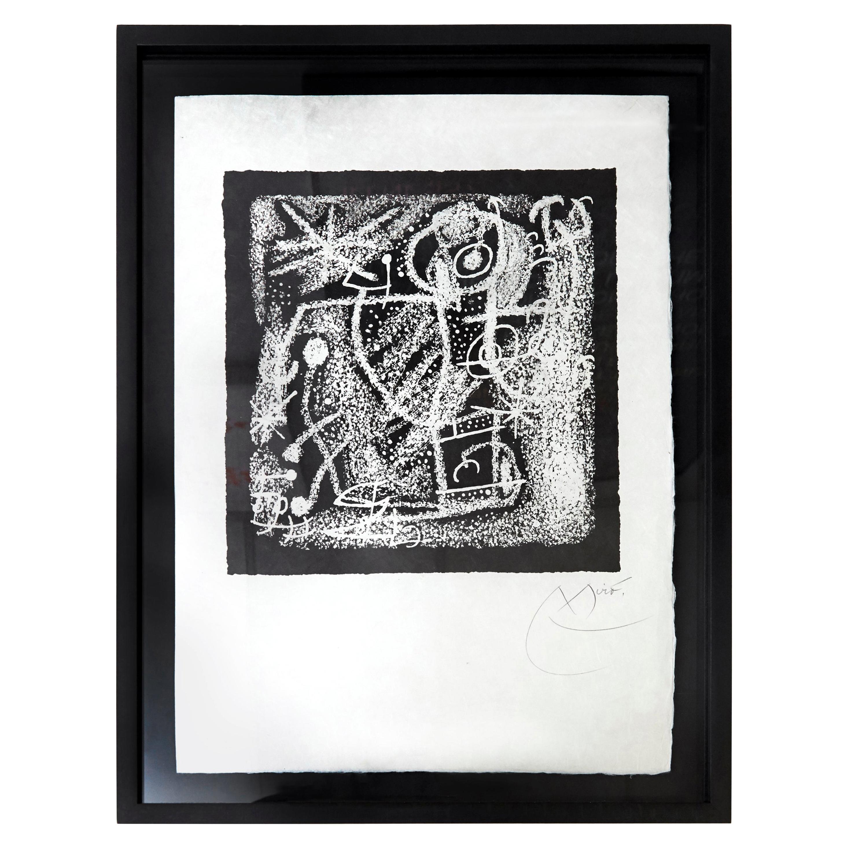 Joan Miró Les Essencies De La Terra Lithography Hand Signed