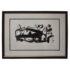 Joan Miro Lithograph 1 / 25 Fotoscope Framed