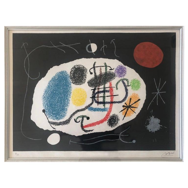 Joan Miro Lithograph For Sale