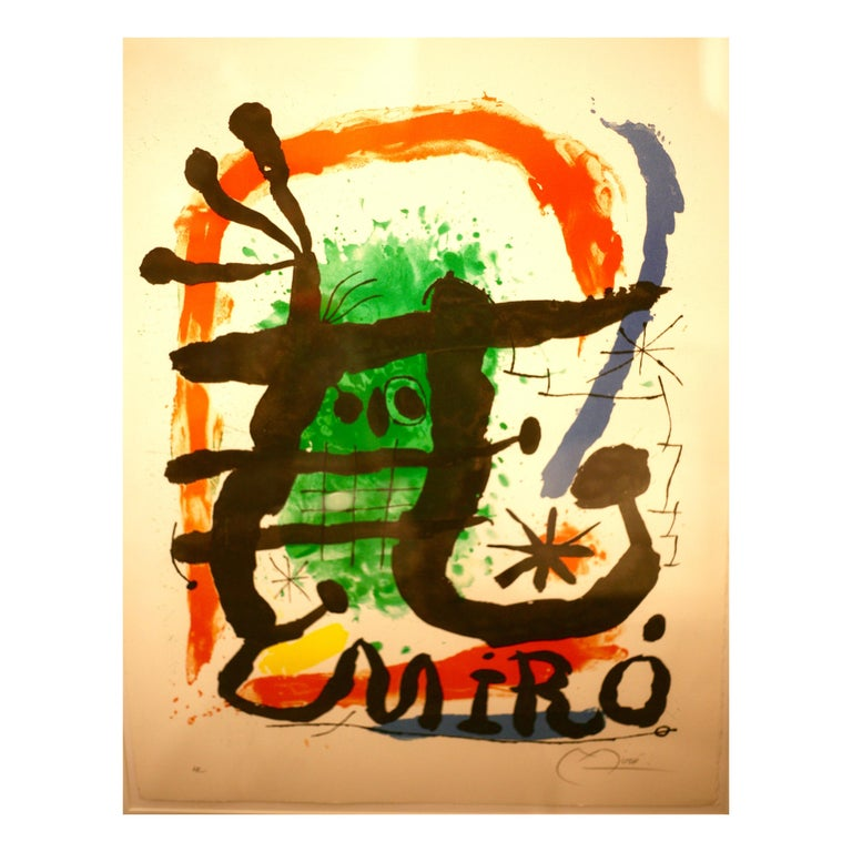 Joan Miró, Lithograph Oeuvres Graphique, 1965 For Sale