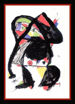 "JOAN MIRO - ORIGINAL GOUACHE - UNIC PIECE - ""EL GOLAFRE"""