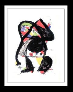 Joan Miro. Original single piece mixed technique painting