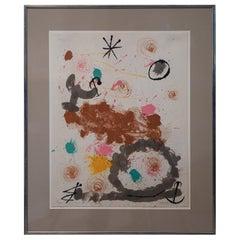 Joan Miró Pencil Signed Lithograph, circa 1968