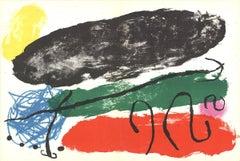 1960 Joan Miro 'Les formes No.119-XVI-XVII' Surrealism Multicolor France Lithogr
