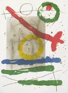 1965 Joan Miro 'Derriere le Miroir, no. 151-152, pg 22' Surrealism Multicolor