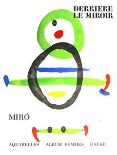 1967 After Joan Miro 'Miro Derriere Le Miroir, no.169' Surrealism Multicolor