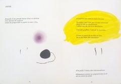 1971 Joan Miro 'Derriere le Miroir, no. 193-194, pg 24,25' Surrealism White