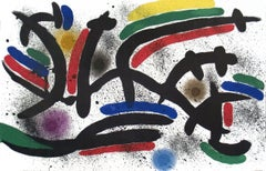 1972 Joan Miro 'Lithograph I, Number IX' Surrealism Multicolor France Lithograph