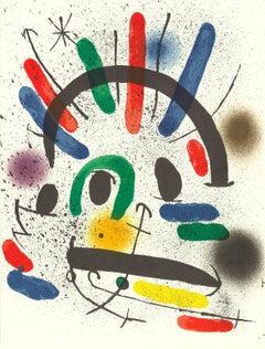 1972 Joan Miro 'Litografia original II' Surrealism Multicolor Spain Lithograph