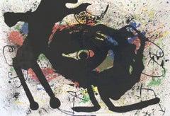 1973 Joan Miro 'Derriere le Miroir, no. 203 pg 10,11' Surrealism Multicolor