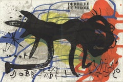 1973 After Joan Miro 'DLM No. 203 Cover' Surrealism France Lithograph