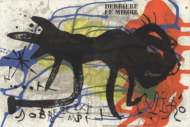 1973 After Joan Miro 'DLM No. 203 Cover' Surrealism France Lithograph - Print by Joan Miró