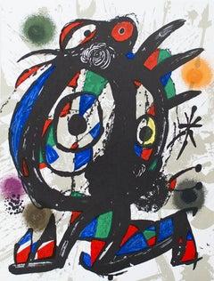 1975 Joan Miro 'Litografia original I' Surrealism Multicolor Spain Lithograph