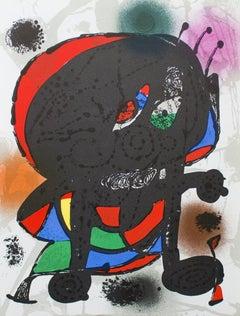 1975 Joan Miro 'Litografia original III' Surrealism Multicolor Spain Lithograph