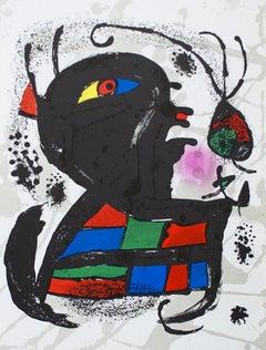 1975 Joan Miro 'Litografia original V' Surrealism Multicolor Spain Lithograph