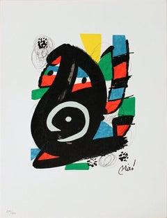 1980 Joan Miro 'La Criatura from La Melodie Acide XVIII' Surrealism Multicolor