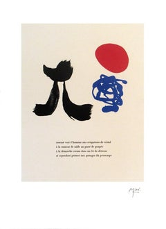 "2004 After Joan Miro 'Illustrated Poems-""Parler Seul"" VIII' Surrealism"
