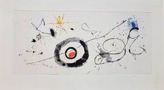 One plate from Derrière le Miroir: Céramiques Monumentales de Miró et Artigas