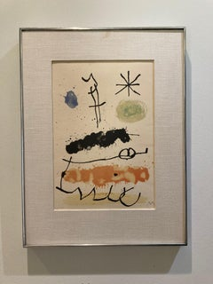 'Abstract Landscape with Star,' by Joan Miro,  Four-color Lithograph.