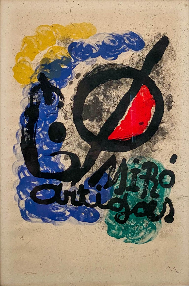 Affiche pour l'Exposition Miro-Artigas, 1963 - Abstract Mixed Media Art by Joan Miró