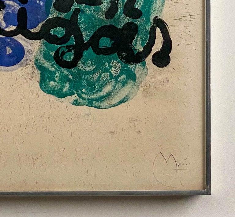 Affiche pour l'Exposition Miro-Artigas, 1963 For Sale 2