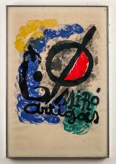 Affiche pour l'Exposition Miro-Artigas, 1963