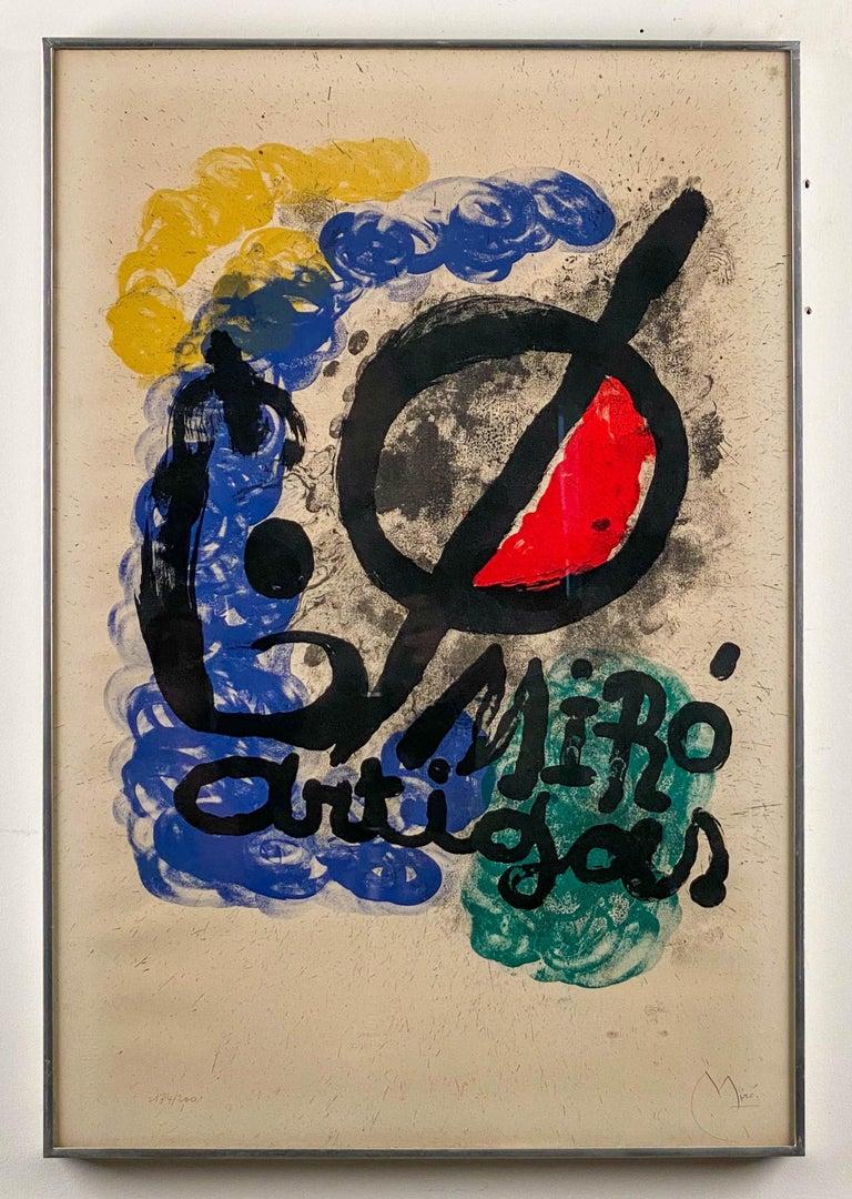 Affiche pour l'Exposition Miro-Artigas, 1963 - Mixed Media Art by Joan Miró